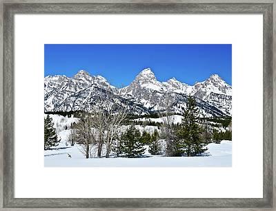 Teton Winter Landscape Framed Print by Greg Norrell