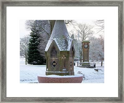 Tettenhall Village Snow Framed Print