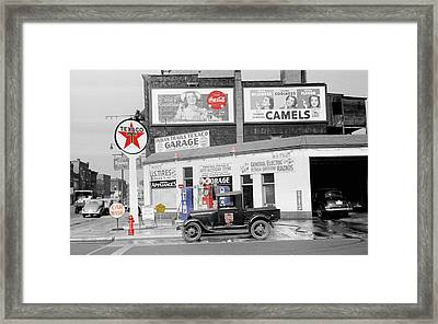 Texaco Station Framed Print by Andrew Fare