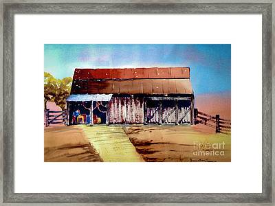 Texas Barn Framed Print