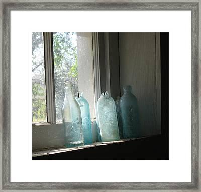 Texas Bottles Framed Print
