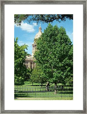 Texas Capitol Building In Austin Framed Print by Elizabeth Sullivan