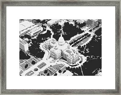 Texas Capitol Bw3 Framed Print by Scott Kelley