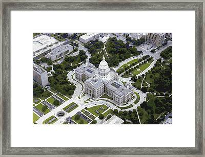 Texas Capitol Color 16 Framed Print