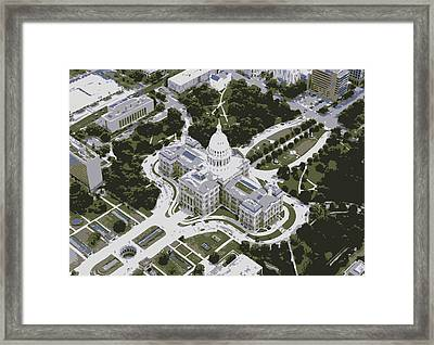 Texas Capitol Color 6 Framed Print by Scott Kelley