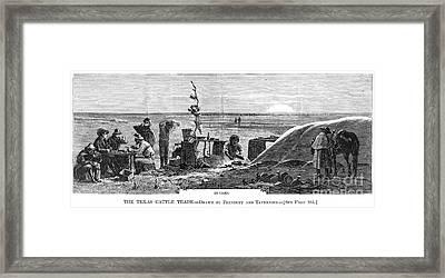 Texas Cattle Trade, 1874 Framed Print by Granger