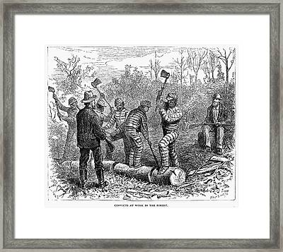 Texas: Chain Gang, 1874 Framed Print by Granger