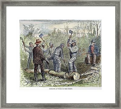 Texas Chain Gang, C1874 Framed Print by Granger
