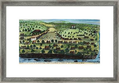 Texas: City Of Austin 1840 Framed Print