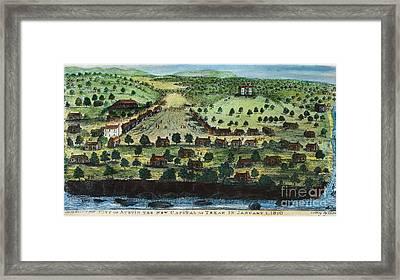 Texas: City Of Austin 1840 Framed Print by Granger