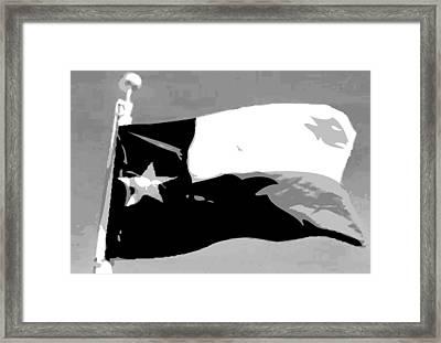 Texas Flag Pole Bw3 Framed Print by Scott Kelley