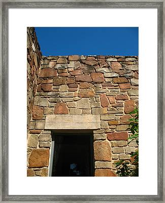 Texas Limestone Doorway With Lintel Framed Print by Connie Fox