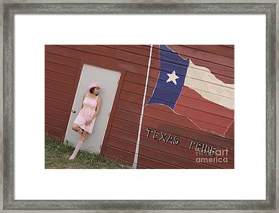 Framed Print featuring the photograph Texas Pride by Sherry Davis