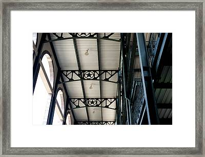 Texas Rangers Stadium  Framed Print by Malania Hammer