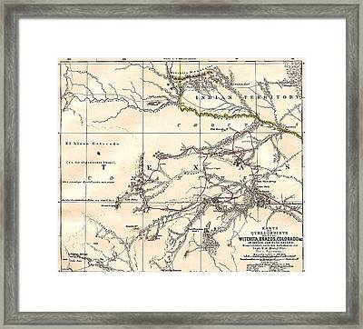 Texas  Rivers Framed Print