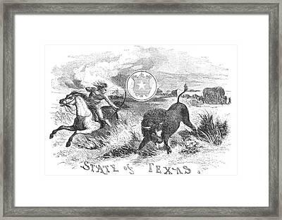 Texas Scene, 1855 Framed Print by Granger