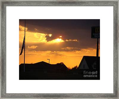 Texas Sets A Sun Framed Print by Jack Norton