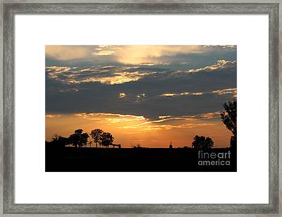 Framed Print featuring the photograph Texas Sized Sunset by Kathy  White
