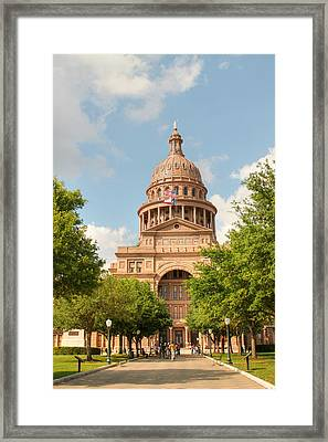Texas State Capitol Building In Austin  II Framed Print by Sarah Broadmeadow-Thomas