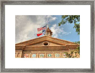 Texas State Capitol Building In Hdr Framed Print