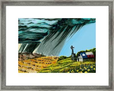 Texas Storm Framed Print