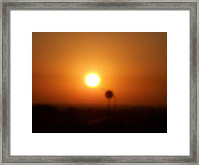 Texas Sunrise Framed Print by Adam Cornelison