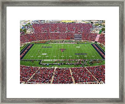 Texas Tech Jones At And T Stadium Framed Print by Michael Strong