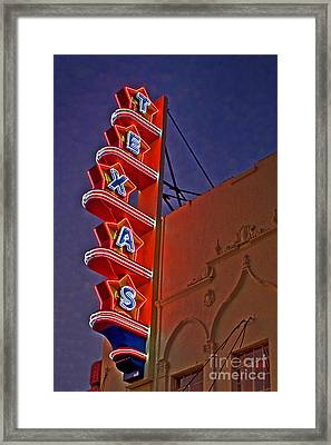 Texas Theater Restored Framed Print by Gib Martinez