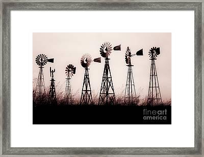 Texas Windmills Framed Print by Tamyra Ayles