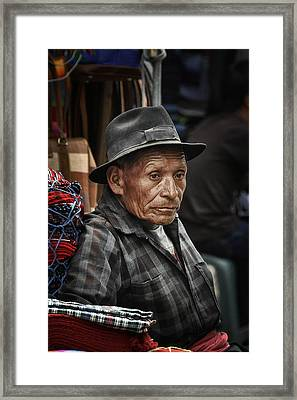Textile Merchant Framed Print by Tom Bell