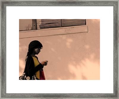 Texting Framed Print by Viktor Savchenko