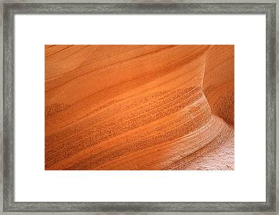 Texture And Light - Antelope Canyon Framed Print