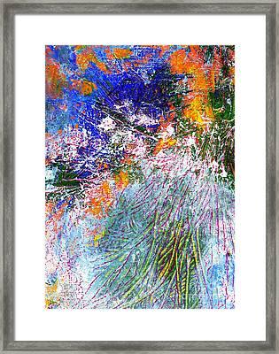 Texture Blue Framed Print
