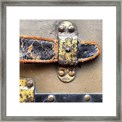 #texture #entropy #old #aged #steam Framed Print by Aubrey Erickson