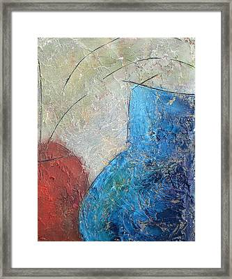 Textured Canvas Urns Framed Print by Patricia Cleasby