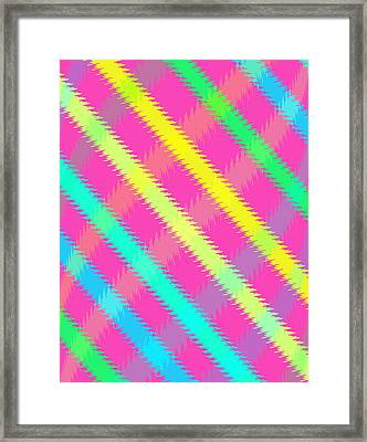 Textured Check Framed Print by Louisa Knight