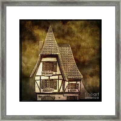Textured House Framed Print