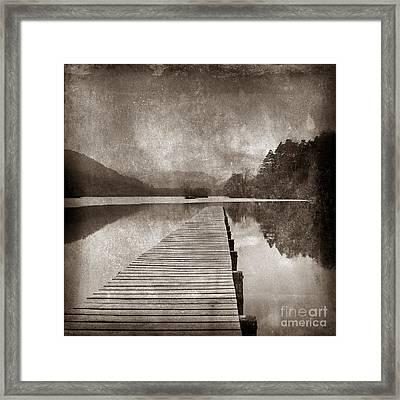 Textured Lake Framed Print by Bernard Jaubert