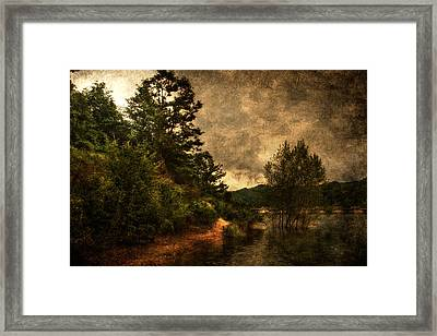 Textured Lake Framed Print