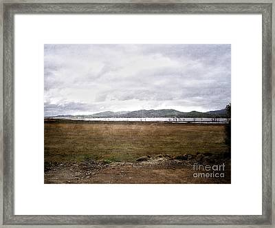 Textured Land Framed Print by Joanne Kocwin