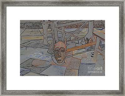 Framed Print featuring the photograph Textured Mask by Tamera James
