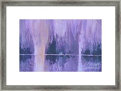 Textured Moon Framed Print