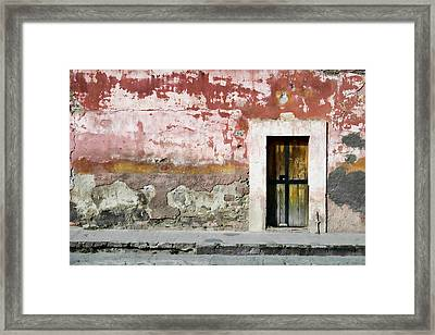 Textured Wall In Mexico Framed Print