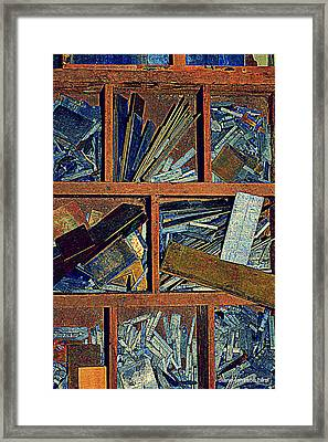 textures III Framed Print