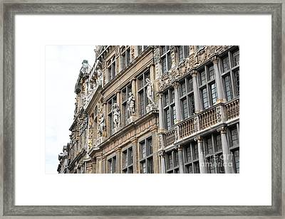 Textures Of Brussels Framed Print