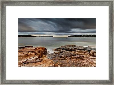 Textures Of Land And Sky Framed Print by Mark Lucey