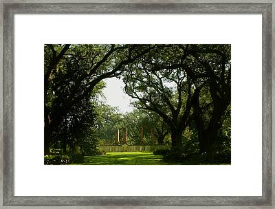 Tezcuco Plantation Grounds Framed Print