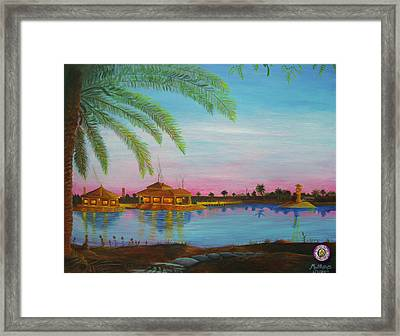 Tf 134 Headquarters With Fig Tree Framed Print by Michael Matthews