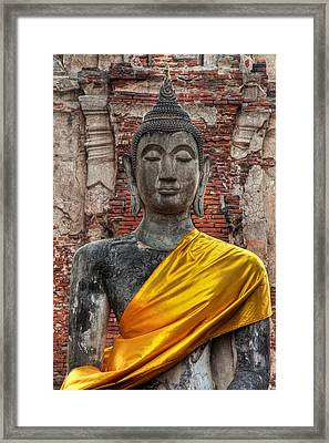 Thai Buddha Framed Print by Adrian Evans