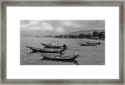 Thai Fishing Boats Framed Print by Allan Rufus